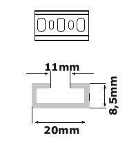 JSL - Calha de aço galvanizada perfurada (perfil DIN C11)