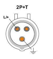 JSL - Ficha Macho Industrial 16A 2P+T(E) IP44