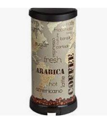KETER CURVER 213366 Cubo IML Coffee fecho pedal 40L P(cm)29,8 A(cm)69,7 L(cm)34,9