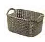 KETER CURVER 230008 Cesta Knit Rectangular XS ~3L Castanho P(cm)24,8 A(cm)13,7 L(cm)17,3