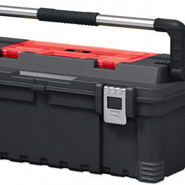 """KETER CURVER 237784 Keter Tool Box 26"""" - caixa de ferramentas, cor negro e vemelho"""