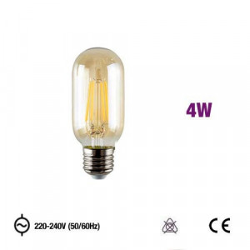 MRD-T450E2740CEA - LÂMPADA T45 LED FILAMENTO 4W 2300K AMBER GLASS OMNIUM ELECTRIC