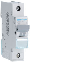 MWN110 - Disjuntor 1P 10A C 3kA 1M HAGER EAN:3250614330438