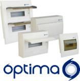 O40E08 - QUADRO 8 MOD. ENCASTRAR IP40 C/BARRAMENTO E PORTA OPACA OMNIUM ELECTRIC