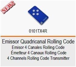 ROGER Comando/Emissor Quadricanal Rolling Code TX4R