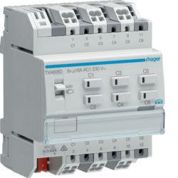 TXA606D - Actuador bin./est. 6 canais 16A Cap KNX HAGER EAN:3250616048843