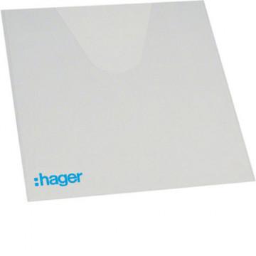 VZ407 - Porta esquemas p/caixa volta HAGER EAN:3250616664074