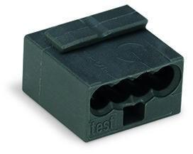 WAGO - Ligador MICRO PUSH WIRE { B 0,6-0,8mm' | cinzento escuro | 4 condutores | ref. 243-204