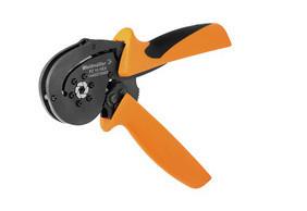 Weidmuller PZ 10 HEX - Alicate cravar ponteiras matrix hexagonal de 0,14…10mm 1445070000