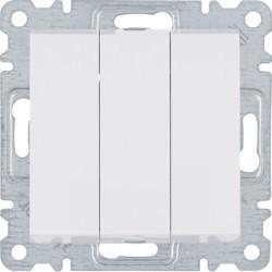WL0070 - lumina 2 Interruptor triplo, branco HAGER EAN:8694407000279