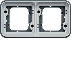 WNA402 - cubyko - Quadro x2 horizontal, cinzento HAGER EAN:3250617174428
