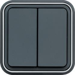 WNE040 - cubyko e - Comutador escada duplo, cinz HAGER EAN:3250617172400