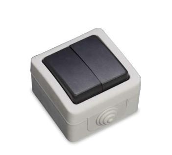 001200502 - Interruptor à prova d'água duplo 10A IP54 8436021945020