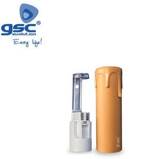002203363 - Suporte para lâmpada de vela E14 85mm creme 8433373033634