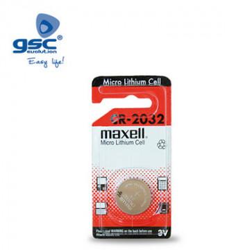 009000211 - Bateria de lítio MAXELL CR2032 3V, Blister 1 Unit. 4902580133400