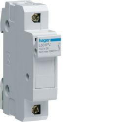 01 - L501PV - 3250614124815 Corta-Circuitos p. Fusíveis 1P 1000VDC HAGER