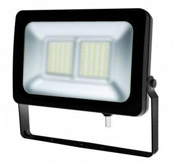 17535.5060 - Projector Exterior Slim 50W 230Vac 6000K 5250Lm alumínio Preto Vidro Prismático - Quant. fornecida = 1 un