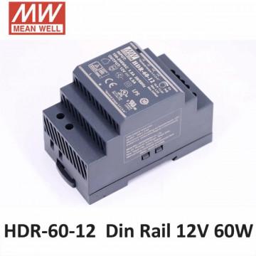 201211.160 - Fonte de Alimentação Calha DIN Mean Well 12Vdc 60W HDR - Quant. fornecida = 1 un