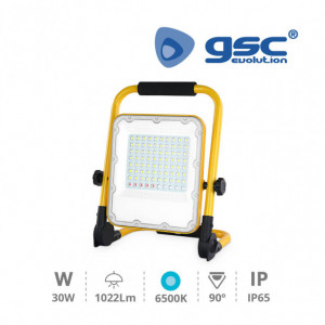 202605001 - Projetor LED com saída USB de bateria 30W 6500K para luz de emergência 8433373042650