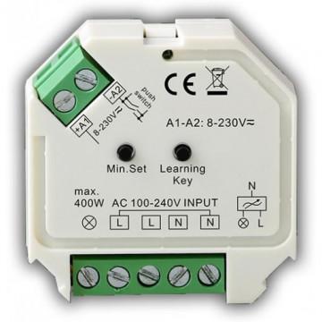 211218.3400 - Controlador DIM 240Vac 400W (230Vac) Push Dim / RF - Quant. fornecida = 1 un