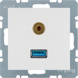 3315391909 - S.1/B.x - USB / jack 3.5mm, branco mate BERKER EAN:4011334330141