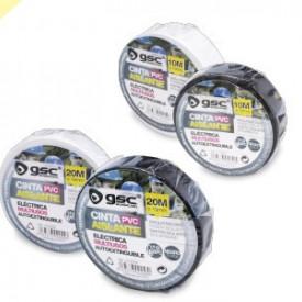 4102255 - 8433373022553 Fita isolante elect.PVC 20M White-Retractile10ud