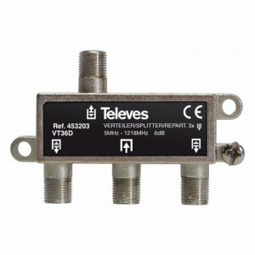 "453203 - TELEVES - Repartidor Interior (5-1218MHz) 3D ""F"" 6dB"