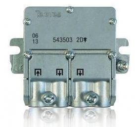 "543503 -8424450165768 TELEVES - Mini-Repartidor 5...2400MHz ""EasyF"" 2D 4,3/4dB Interior"