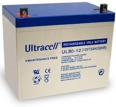 Bateria Chumbo 12V 80Ah (259x168x208 mm) - Ultracell