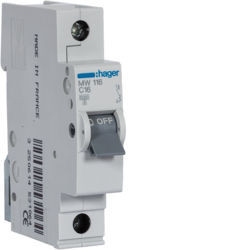 MW116 - Disjuntor 1P 16A C 3kA 1 M HAGER