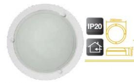 701936 - 8433373019362 Plafon redondo branco E27 20W (60W)