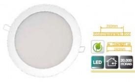701970 - 8433373019706 Downlight recesso redondo LED 20W - Branco 4200K