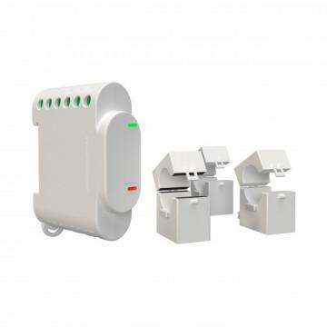 Shelly3EM - Medidor de energia com três canais e acesso a rede Wi-Fi.