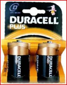9000104 - 5000394019171 Pilha alcalina DURACEL Plus LR20 (D), Blister 2