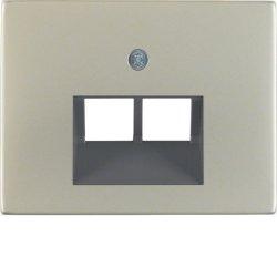 BERKER - 14097004 - K.1/K.5 - espelho RJ45 duplo, inox 23