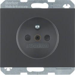 BERKER - 6765757006 - K.1/K.5 - tomada FR obturad., antrc mate 23