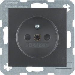BERKER - 6765761606 - S.1/B.x - tomada FR obturad., antrac mt 23