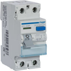 CFC225P - Inter. dif. 2P 25A 300 mA tipo AC 2 M HAGER