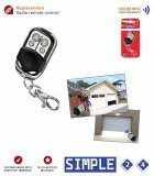 Comando Garagem 4 Canais 433,92Mhz - SUPERIOR Simple
