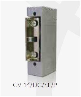 CV-14/DC/SF/P Trinco eléctrico Fecho ajustável, Cx reduzida sem escudo 12V DC GOLMAR