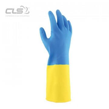 Equipamentos de Protecção - 5826 - Luva Látex/Neoprene Azul/Amarelo 30cm 10
