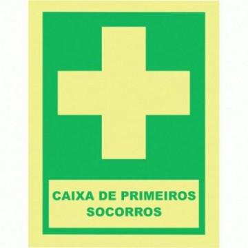 """Equipamentos de Protecção - 6112 - Sinal Emergência """" Caixa Primeiros Socorros"""" 150X200"""