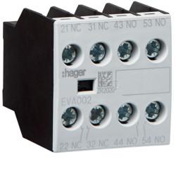 EVA002 - Contacto Aux. ligação frontal 2NA+2NF HAGER EAN:3250612232000