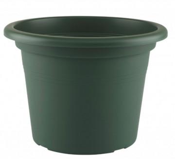 HORTA E JARDIM - 2441 - Vaso Cilindro Venezia 25cm Verde Escuro Artevasi