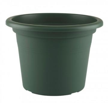 HORTA E JARDIM - 2444 - Vaso Cilindro Venezia 30cm Verde Escuro Artevasi
