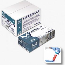 HOSPITALAR - GD20 -M - Luvas NITRILO AZUL SEM PÓ NITRIFLEX Descartável com substancia revestida TAM M (100 uni) SANTEX