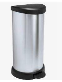 KETER CURVER 181125 Cubo IML Metalizado fecho pedal 40L P(cm)29,8 A(cm)69,7 L(cm)34,9