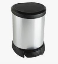KETER CURVER 185376 Cubo IML Metalizado fecho pedal 5L P(cm)24,6 A(cm)21 L(cm)27,7