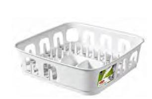 KETER CURVER 223903 Escorredor de pratos quadrado Essentials P(cm)39,1 A(cm)10,9 L(cm)39,1