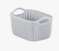 KETER CURVER 230012 Cesta Knit Rectangular S ~8L branco Oasis P(cm)29,6 A(cm)17,2 L(cm)22,2